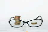 Glasses and coins