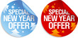Special New year offer stickers set.