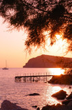 Eressos, Lesvos, Greece at sunset