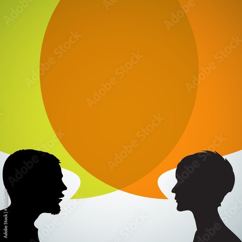 Abstract speakers silhouettes