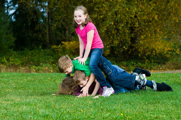 group of children playing outside