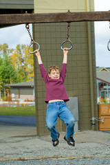 Child playing during recess