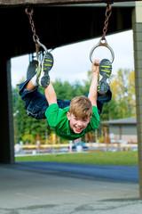 Child having fun on playground during recess