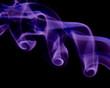 purple smoke twirling