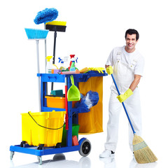 Cleaner man.