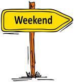 Weekend, Wochenende poster