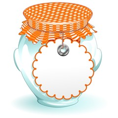 Barattolo di Vetro Conserva Marmellata-Glass Jar-Vector