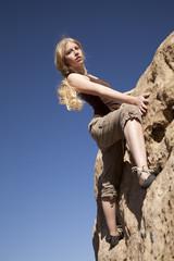 rock climbing top looking
