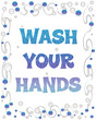wash your hands bubbles