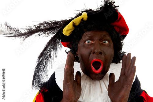 Zwarte piet ( black pete) typical Dutch character Poster
