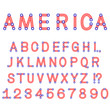 USA symbol alphabet letters isolated