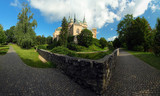 Bojnice castle and park - panoramic view