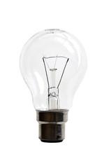 Ampoule à filament, fond blanc