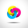 Logo crossed circles, CMYK colours # Vector