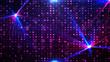 Leinwanddruck Bild - Purple disco lights background