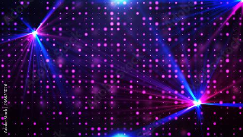 Leinwanddruck Bild Purple disco lights background