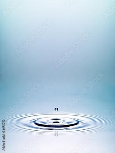 Wassertropfen ohne Horizont