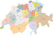 Schweiz, Kantone, Bezirke
