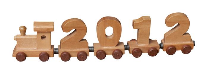 Toy wooden train 2012