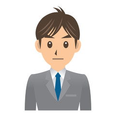 ビジネスマン A 表情3 無表情