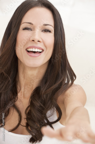 Portrait Of A Happy Smiling Beautiful Woman