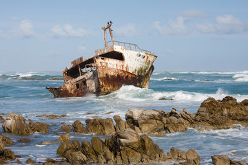 Shipwreck in Cape Agulhas