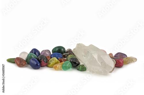 Tuinposter Edelsteen Crystal healer's selection
