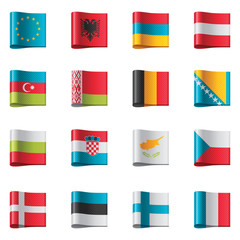 Vector flags. Europe, part 1