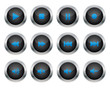 Black multimedia buttons