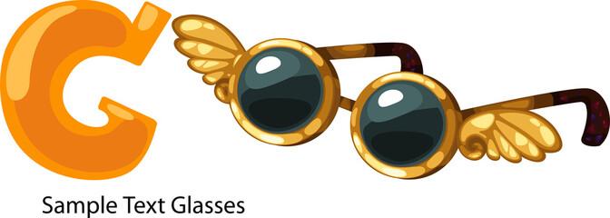 ALPHABET LETTER G-Glasses