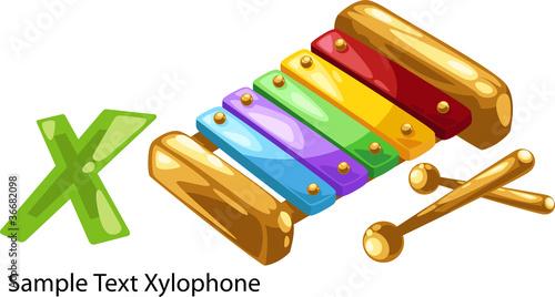 ALPHABET LETTER X-Xylophone - 36682098