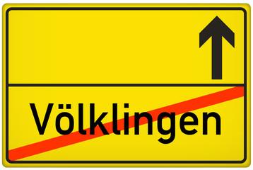 Ortsausgangsschild Stadt Völklingen