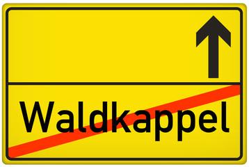 Ortsausgangsschild Stadt Waldkappel