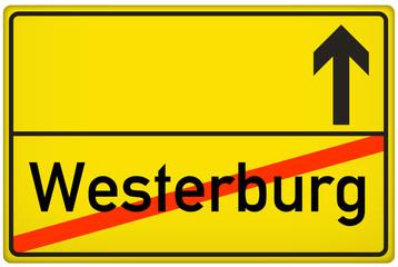 Ortsausgangsschild Stadt Westerburg