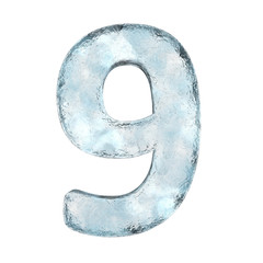 Icing alphabet the number 9