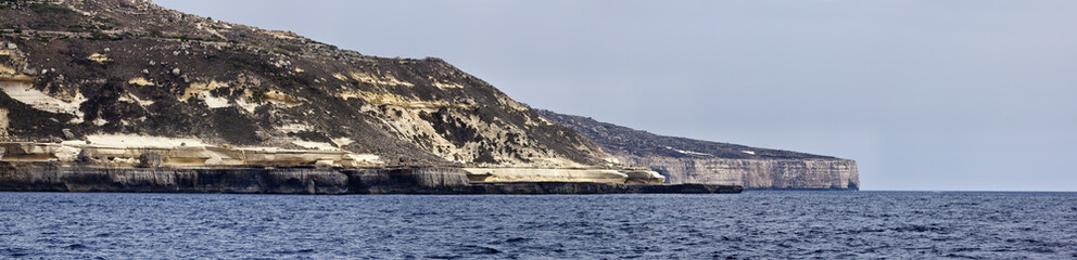 Malta Island, view of the southern rocky coastline
