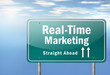 "Highway Signpost ""Real-Time Marketing"""