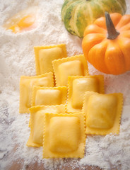 Ravioli stuffed with pumpkin - Ravioli ripieni