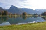 Fototapety Etang de Samoens en automne - Haute-Savoie - Alpes