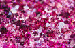 Many small ruby diamond stones, luxury background shallow depth