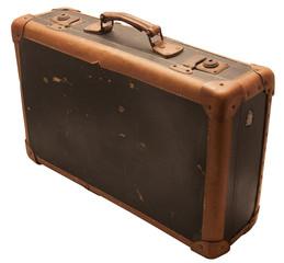 Alter antiker Leder Koffer