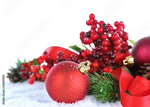Christmas Decorations isolated on white