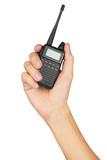 Portable walkie-talkie radio poster