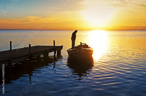 Foto op Canvas Pier me voy con el sol