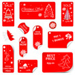 Price Red Tag Set VECTOR for christmas time.