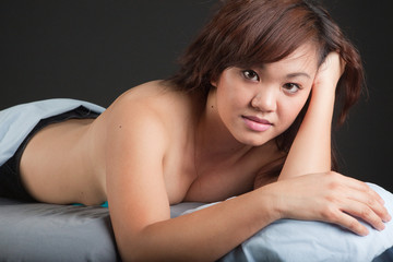 Beautiful Asian woman, resting