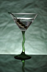 Green Stemmed Martini