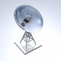 Silber Radarschüssel