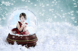 Girl in Snow Globe