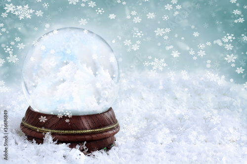 Snow Globe with Clouds